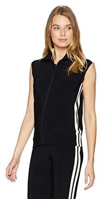 Norma Kamali Women's Side Stripe Sleeveless Turtle Jacket