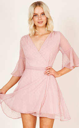 Showpo Figure Eight dress in pink polka dot