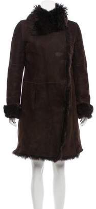 Joseph Shearling Double-Breasted Coat