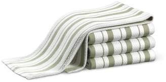 Williams-Sonoma Williams Sonoma Stripe Towels, Set of 4, Sage Green