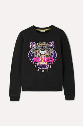 Kenzo Embroidered Cotton-jersey Sweatshirt - Black