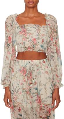 Zimmermann Bayou Shirred Bodice Top