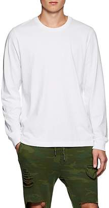NSF Men's Cotton Jersey Long-Sleeve Shirt - White