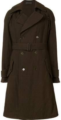Yohji Yamamoto detachable sleeve coat