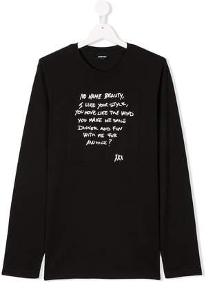 Diesel TEEN slogan print T-shirt