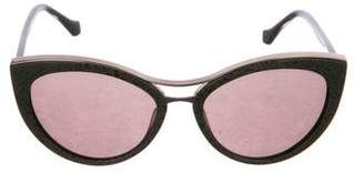 Balenciaga Embellished Cat-Eye Sunglasses