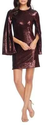 Dress the Population Liza Sequined Slit-Sleeve Dress