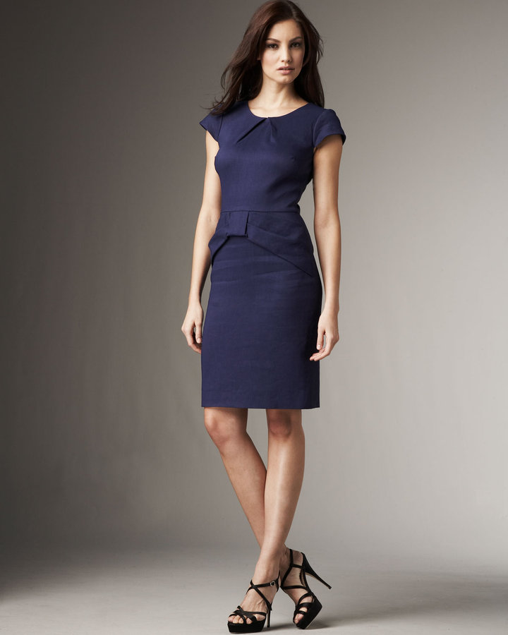 Lela Rose Knot Sheath Dress