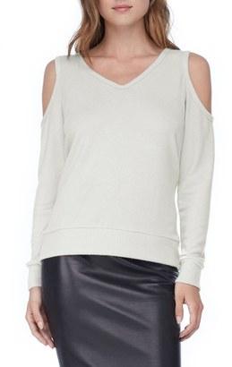 Women's Michael Stars Cold Shoulder Sweatshirt $98 thestylecure.com