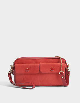 Vanessa Seward Ethan Saddle Bag in Red Smooth Leather and Nubuck