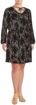 Tart Women's Robby Abstract Dress - Grey Multi, Size 1x (14-16)