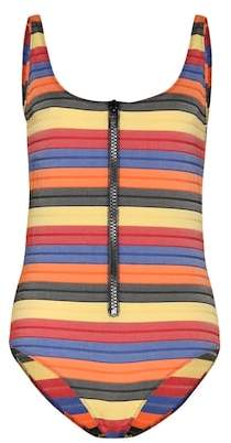 Lisa Marie Fernandez Jasmine striped cotton-blend swimsuit
