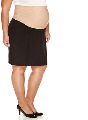 JCPenney DUO MATERNITY duo Maternity Overbelly Pencil Skirt - Plus