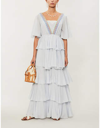 3deeb7695b06 Pitusa Tallulah cotton-voile maxi dress