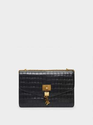 DKNY Elissa Embossed Flap Shoulder Bag