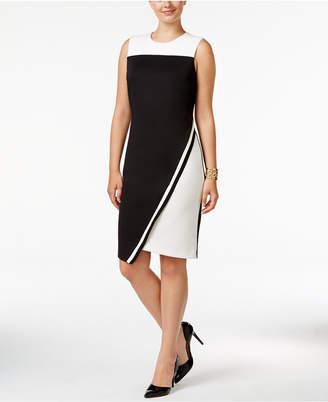 Tommy Hilfiger Colorblocked Asymmetrical Scuba Dress