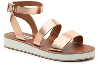 8d635bbfafc Steve Madden Pink Platform Wedge Women s Sandals - ShopStyle
