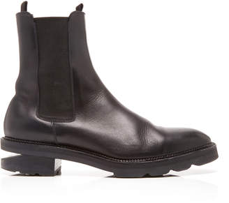 Alexander Wang Andee Cutout Leather Ankle Boots Size: 35