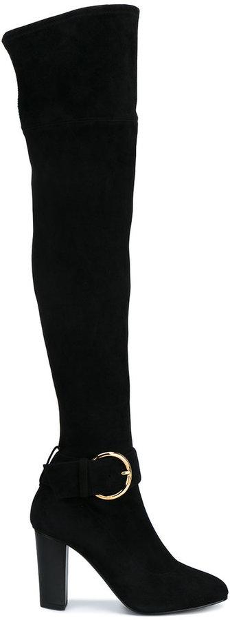Giuseppe Zanotti Design buckle detail over-knee boots