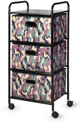 Bintopia 3-Drawer Cart with Mdf Top