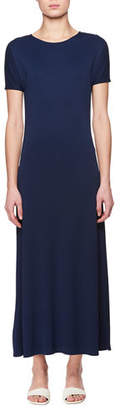 The Row Nacis Crewneck Short-Sleeve Jersey Maxi Dress
