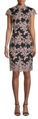 Laundry by Shelli Segal Lace Cap Sleeve Sheath Dress
