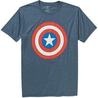Super Heroes & Villains Marvel Big Men's Captain America Shield Short Sleeve Graphic T-shirt, 2XL