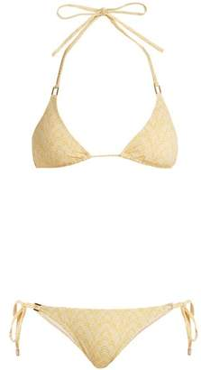 Melissa Odabash Cancun Triangle Bikini - Womens - Yellow Print