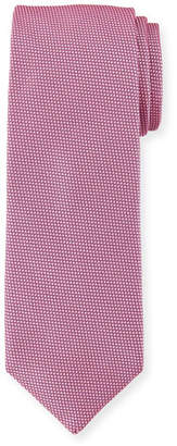 BOSS Solid Dot-Textured Silk Tie, Dark Pink