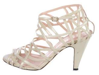 Loeffler Randall Patent Leather Cage Sandals
