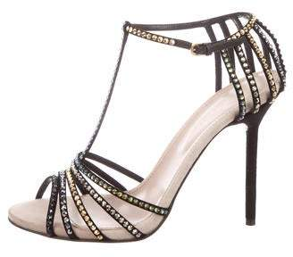 Sergio Rossi Embellished Ankle-Strap Sandals