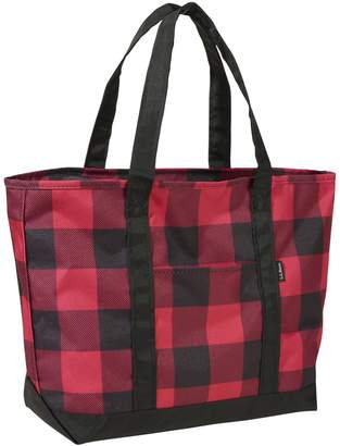 L.L. Bean L.L.Bean Everyday Buffalo Plaid Lightweight Large Tote