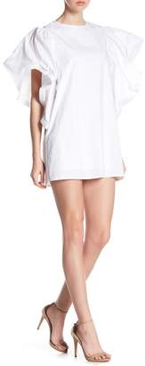 Gracia Ruffle Sleeve Tunic Dress