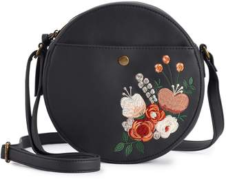 T-Shirt & Jeans T Shirt & Jeans Sloan Floral-Embroidered Crossbody Bag