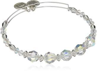 Alex and Ani Swarovski Crystal Beaded, Bangle Bracelet- Shiny Silver