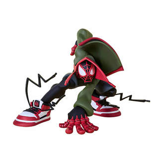 Spiderman Unruly Studios Unruly Industries Marvel Super Heroes in Sneakers PVC Statue Miles by Tracy Tubera 13 cm