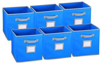 Rebrilliant Collapsible Fabric Cubicle Storage Bin with Label Window