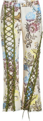 Marques Almeida Marques' Almeida Printed Pants with Lace-Up Front