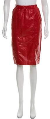 Bottega Veneta Leather Knee-Length Skirt w/ Tags