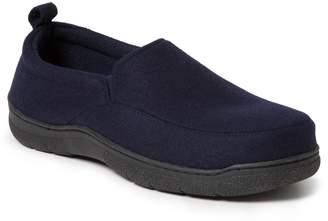 Dearfoams Men's Genuine Wool Jungle Moccasin Slippers