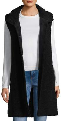 Velvet by Graham & Spencer Women's Reversible Sherpa and Faux Suede Vest