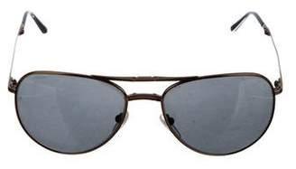 Burberry Aviator Fold-Over Sunglasses