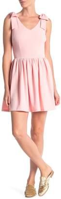 Love...Ady Bow Detail Scuba Crepe Dress