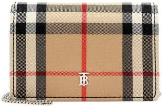Burberry Checked canvas card holder