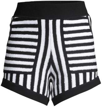fee5732f4c Black And White Striped Shorts - ShopStyle UK