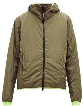 C.P. Company Contrast Trim Hooded Jacket - Mens - Khaki