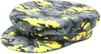 acb607e1928c1 Manokhi camouflage print Biker hat