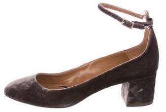 Aquazzura Velvet Ankle-Strap Pumps