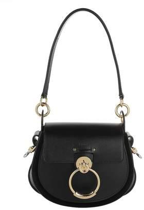 Chloé Tess Shoulder Bag Leather Black
