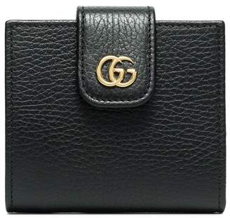 Gucci black Marmont flat leather wallet